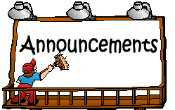Image result for announcements clipart images
